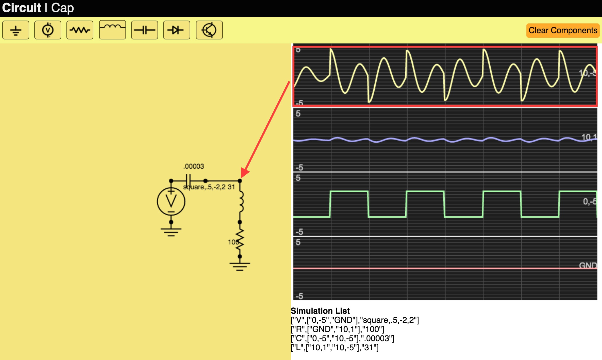 Infnorms Inftinkering Working On Stuff When I Can Circuit Wizard Standard Edition Simulation Menu Window Of Inductors